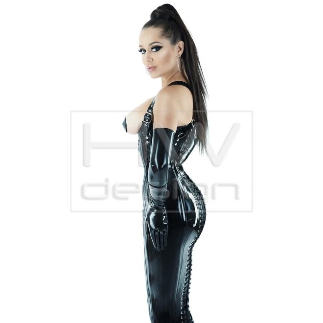 corset 43  anklelength corset dress hw fashion latex
