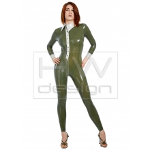 Catsuit with intricate details